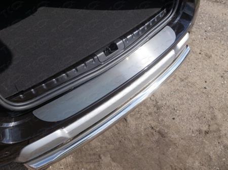Renault Duster 2015 Накладка на задний бампер (лист шлифованный)
